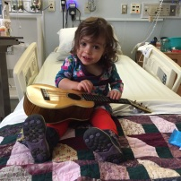 Miri's ukulele concert was a hit with the nurses