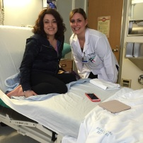 "Abby is in good hands with Nurse Michelle Trager of the ""platinum"" team at UWMC and a Camp Solomon Schechter alumni."