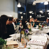 This year's second night seder was filled with so many friends we took over Homegrown in Mercer Island