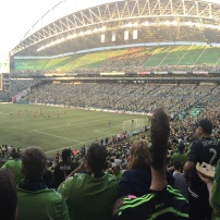 Saw my first Sounder's game courtesy of Ronni Stern and his awesome brother-in-law, Aviad Benzikry