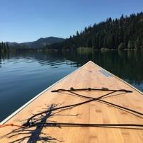 Abby paddleboarding on Patterson Lake