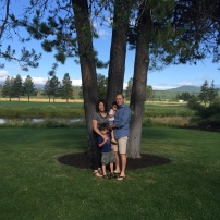 Early 10 year anniversary celebration on the Sunriver Bachelor Lawn