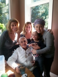 Abby, Miri with my amazing Aunt Kiki, Auntie Mel, and Grandmother