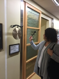 Abby rang the gong to mark the end of her radiation
