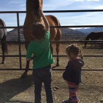 Jaren and Miri making friends