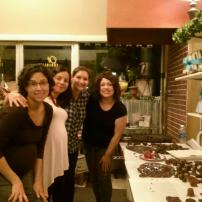 Friends and chocolate!