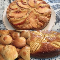 Abby's apple cakes and panezikos were a hit