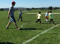 Jaren, #5, has really enjoyed his first year playing soccer