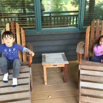 Jaren and Miri enjoy some downtime at Wilson Ranch in Mazama
