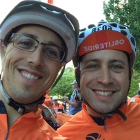 My cousin Jeff and I at the Obliteride startline