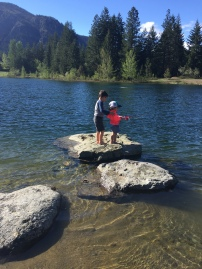 Teaching sister to fish