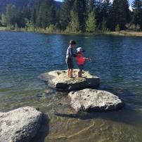 Teaching sister to fish