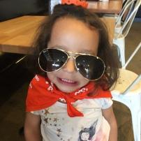 Miri used her Obliteride bandana and wrist band to be a princess