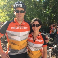 Lucas and Jessica, my secret weapon in getting organized for Obliteride