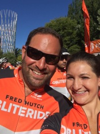 After flexing some serious fundraising muscle, Sam and Debra get ready to ride
