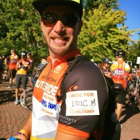Phiippe rides for Eric M
