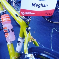 Meghan rode Abby's cyclocross bike