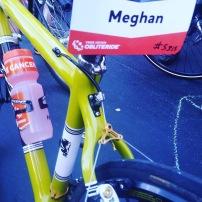 Meghan rode Abby's cyclocross bike