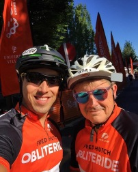 Jeff and Rob rode all 25 mies together